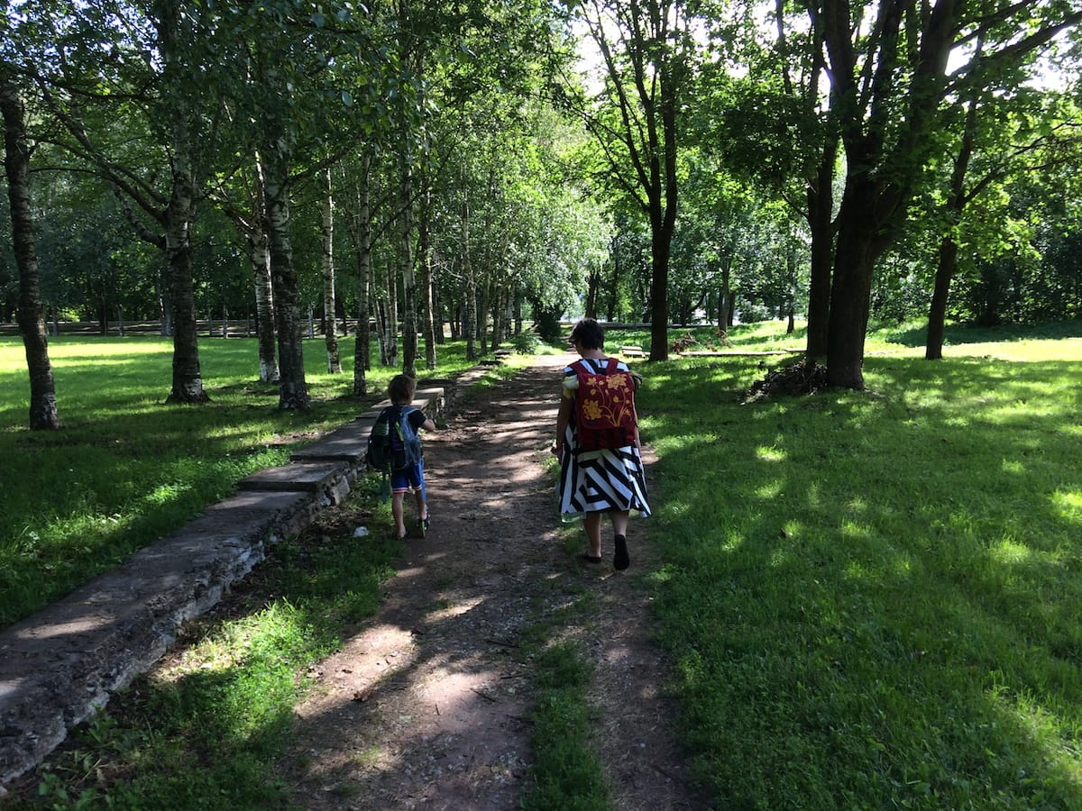 On the Narva path to the river