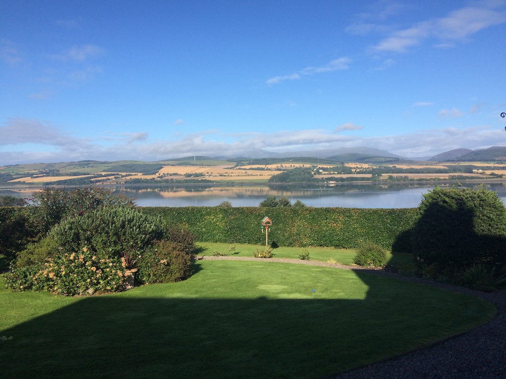 The view from our Scotland housesit on a sunny day