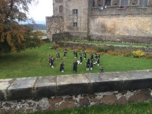 Stirling Castle bagpipers