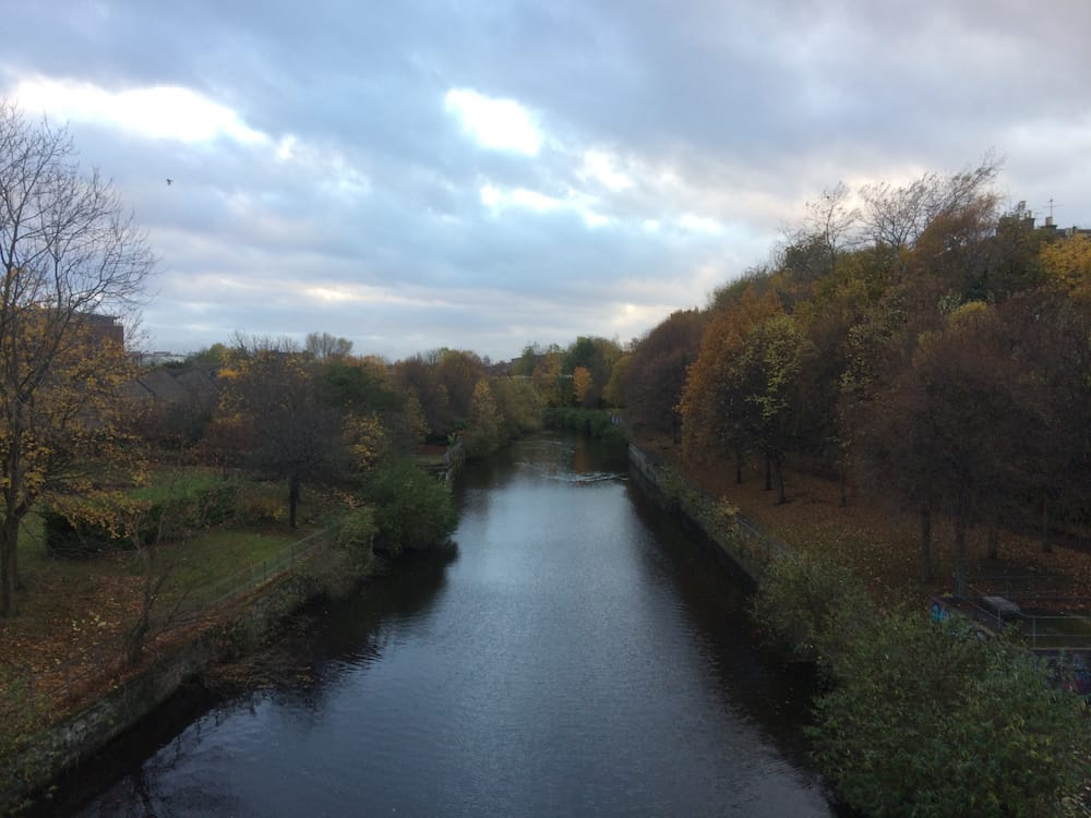 The Leith River near the most amazing public library