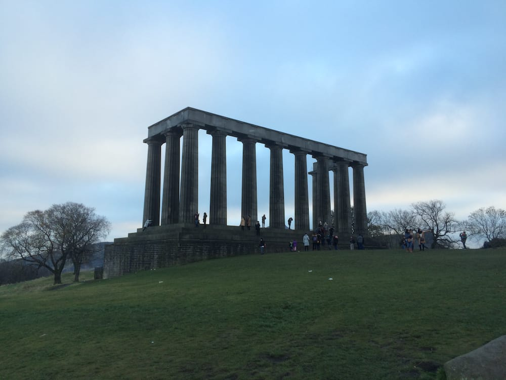 An unfinished monument at Calton Hill