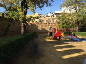 Playground at the castle wall