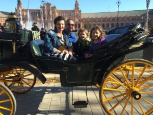 Horse and carriage ride at the palace