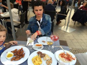 Our first tapas in Seville