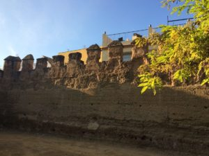 More of the castle wall that surrounds Old Town