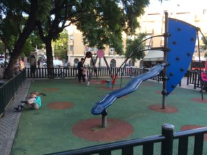A cool playground near one of our favourite shops