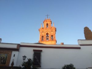 A church in the morning in the Macarena neighborhood