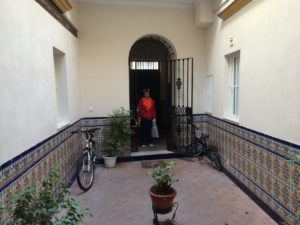 The entrance to our lodging for the month in Seville