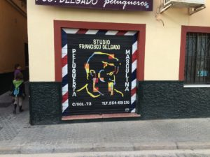 A really cool barber shop in our hood in Seville