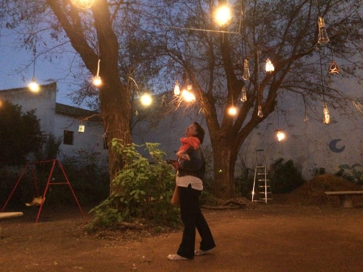 The lights at El Herto del Rey Moro
