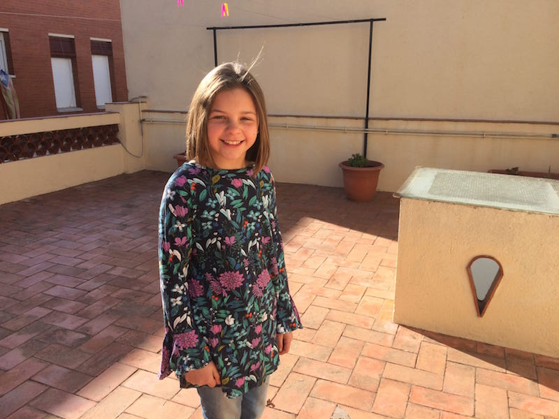Daughter got a sweet haircut in Canet and she looks great