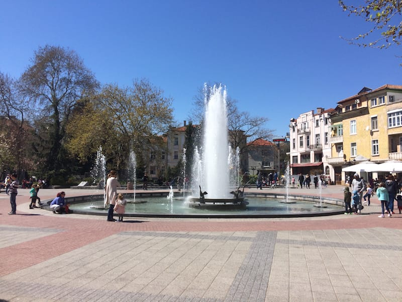 Plovdiv fountain in the square