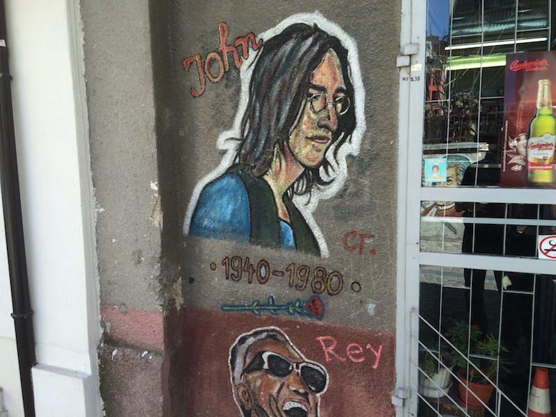 John Lennon and Ray Charles in Kapana, Plovdiv, Bulgaria