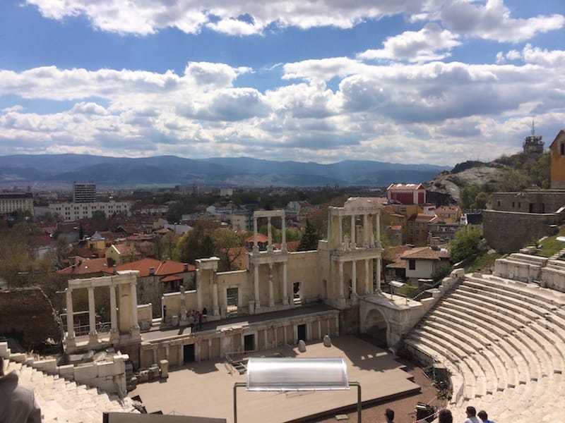 The Ancient Theatre; the landmark in Plovdiv that made us want to go there