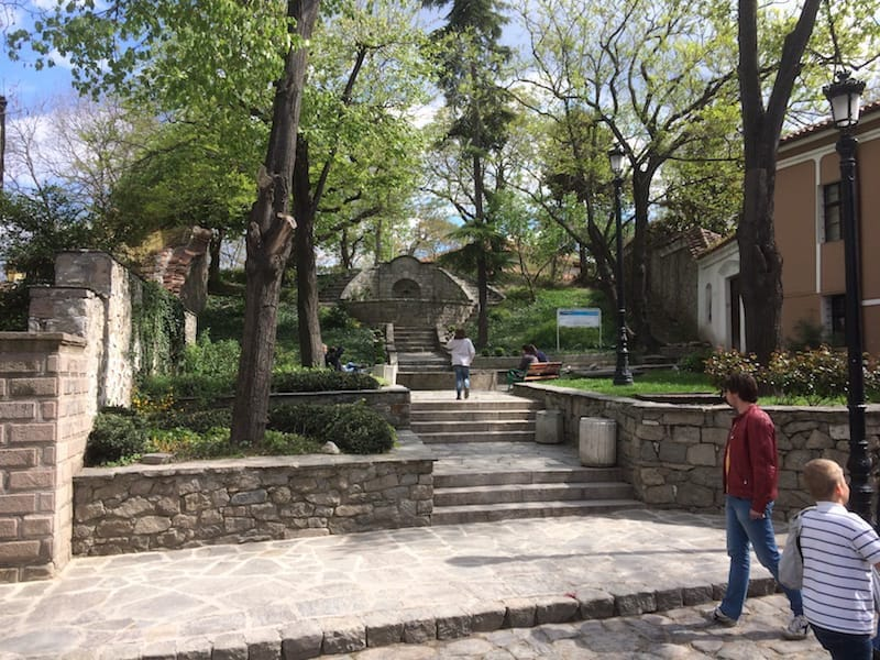 An amazingly cool fountain/park in old Plovdiv