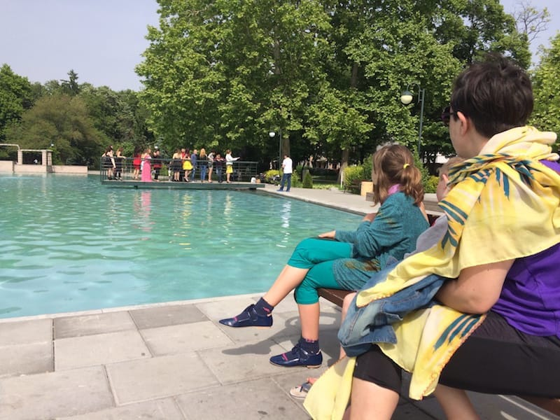 We watched a high school graduation photoshoot at the Tsar Simeon fountain