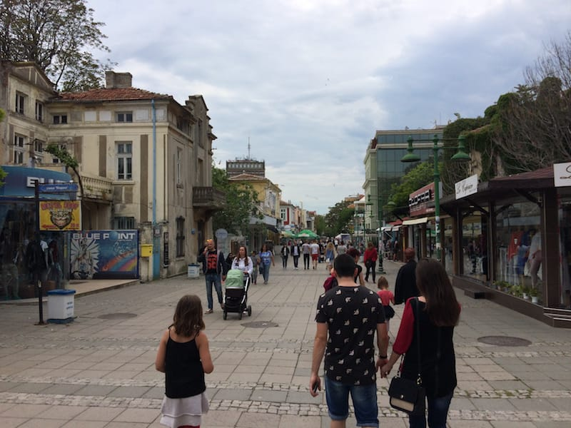 Burgas Old Town walking in from the beach