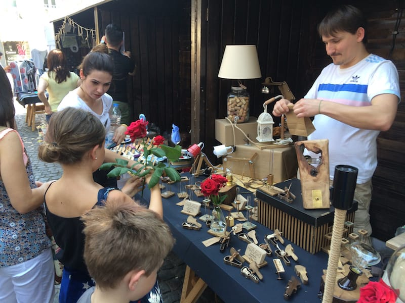 Maevski Handmade Lamps and Art founders Katerina and Vasil were so great with our kids!