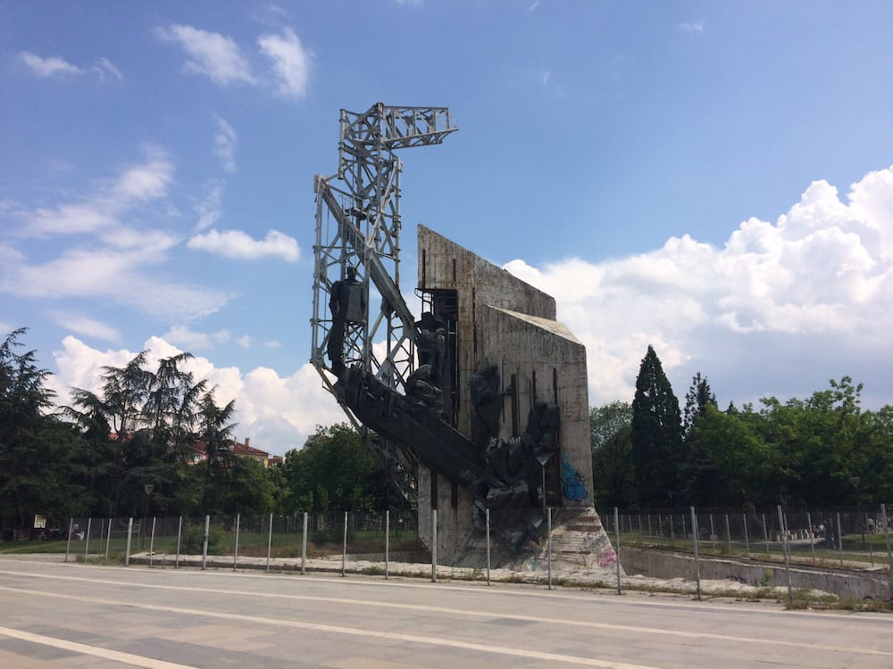 Check out this huge sculpture at Sofia Parkat the National Palace of Culture