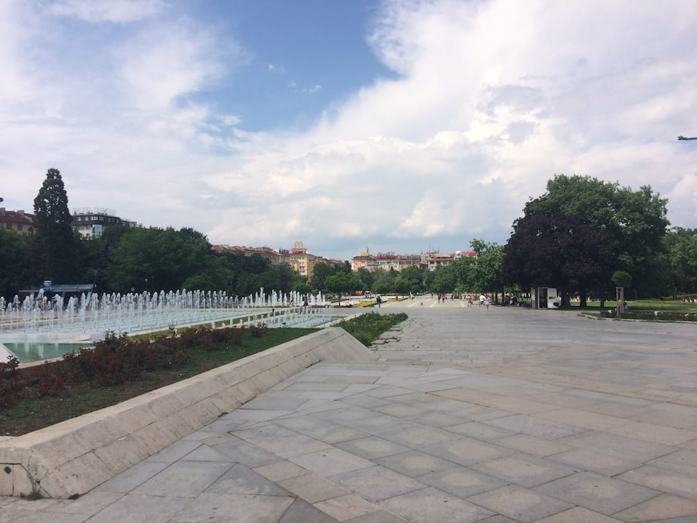 The Sofia Park looking away from the National Palace of Culture