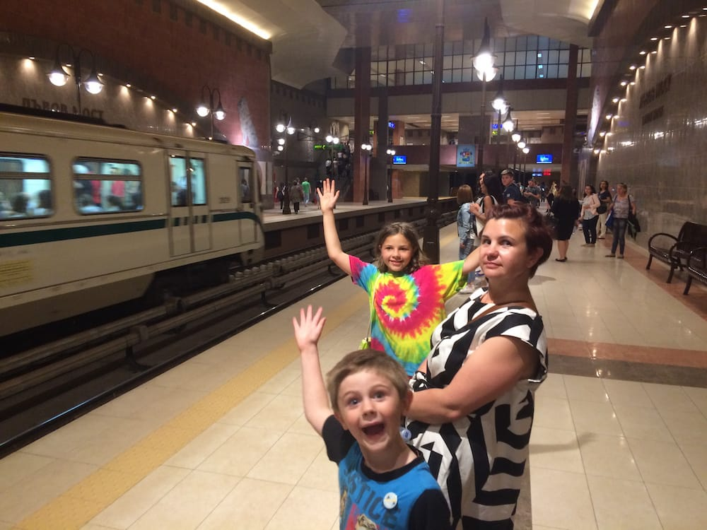 Sofia's subway system is well organised and fun to ride