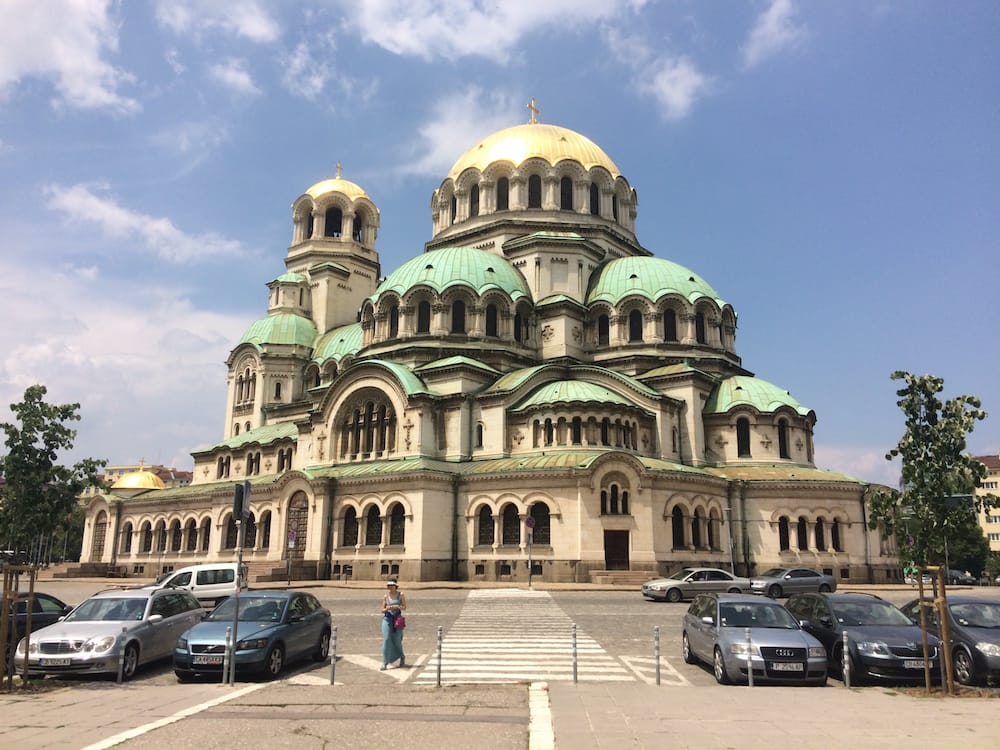 Alexander Nevsky Cathedral in Sofia is dramatically beautiful, especially in the sunlight