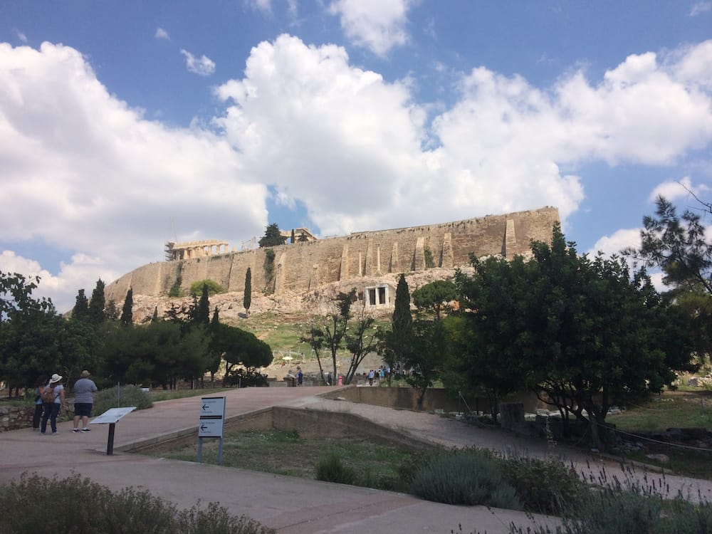 The view that greats you from the main entrance to the Acropolis