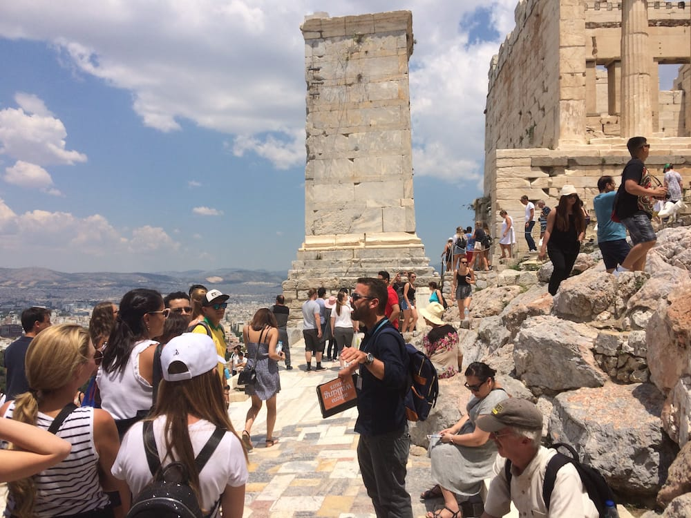 Our guide Evangelos was very knowledgable on the steps at the Acropolis hilltop