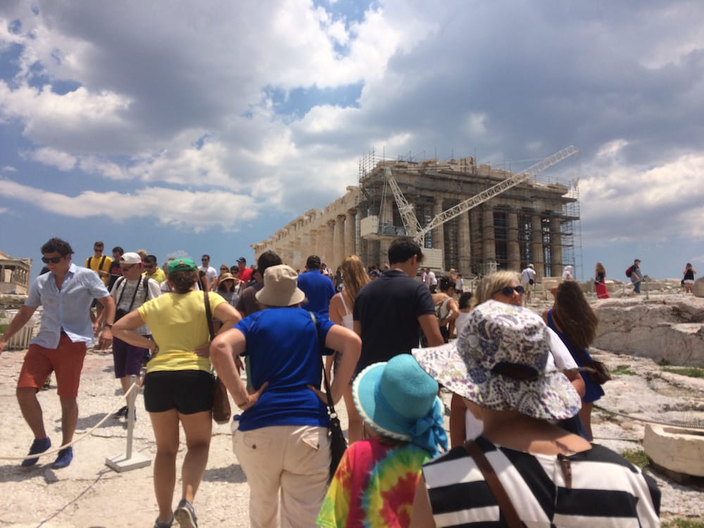 Always crowds at the Acropolis