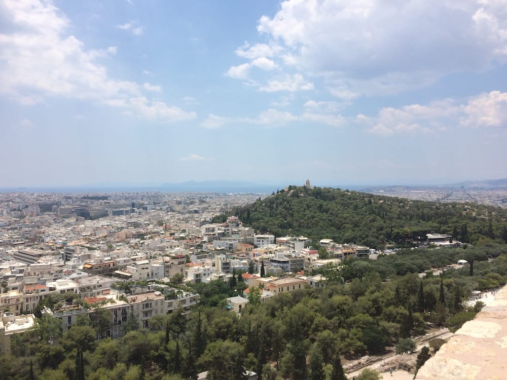 Looking west from the hilltop at Acropolis