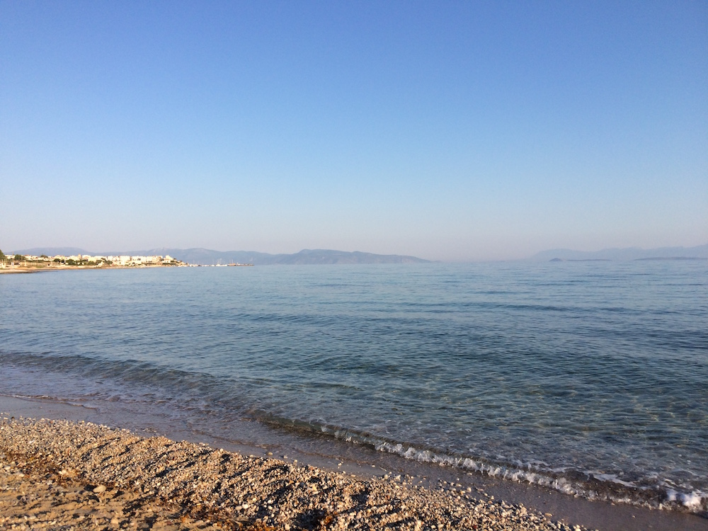 Early morning at the beach in Skala, Agistri