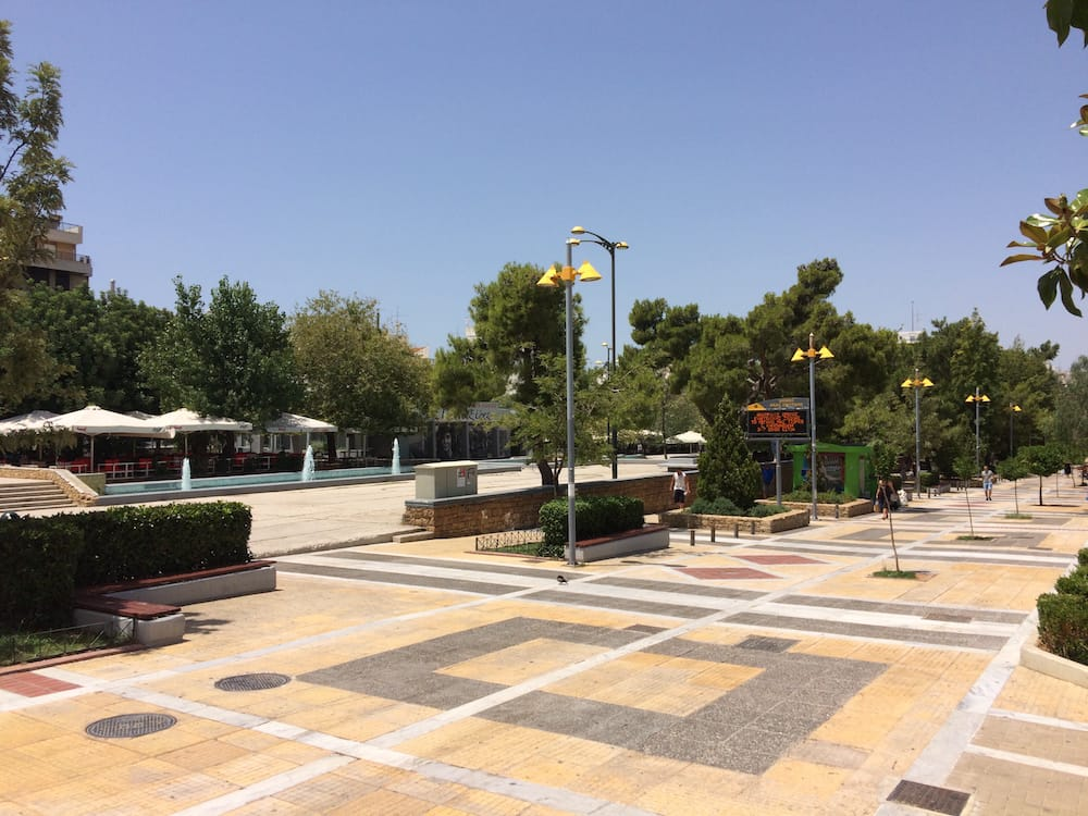Nea Smyrni Town Centre had lots of shops and restaurants and was really busy at night