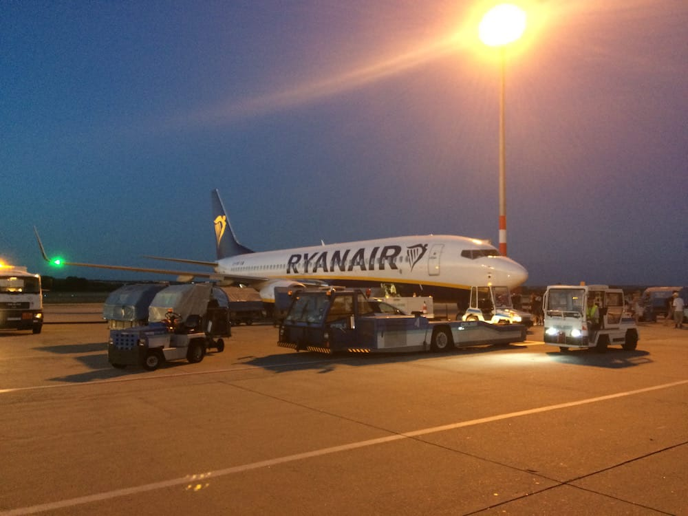 Our trusty Ryanair plane got us to Budapest no worries, some free water would have been nice though