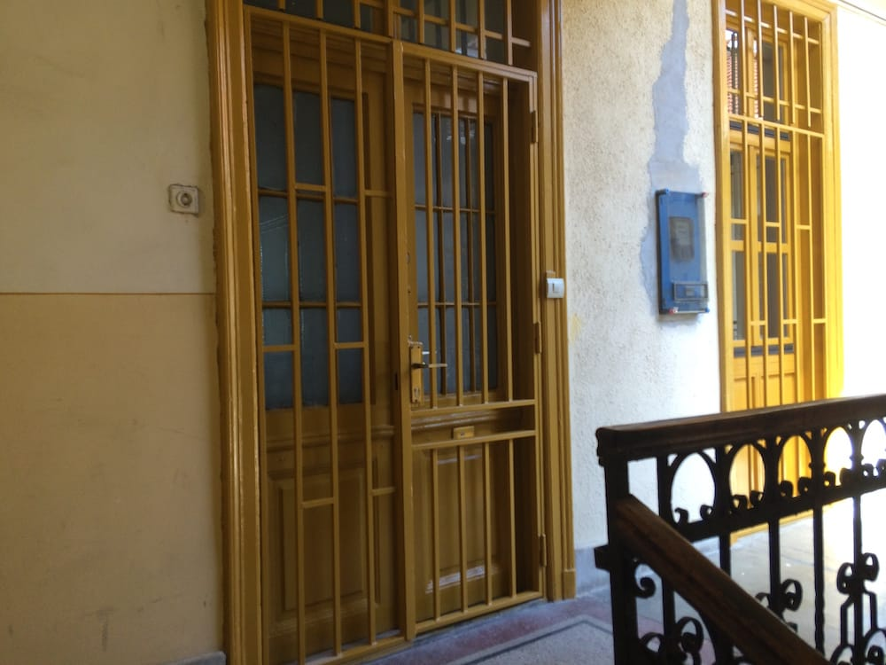 Our front door in Budapest, they finished the place the day we arrived!