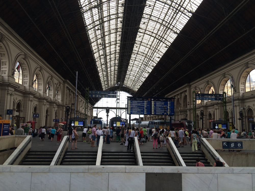 We went to Keleti Palyaudvar train station, very close to our apartment