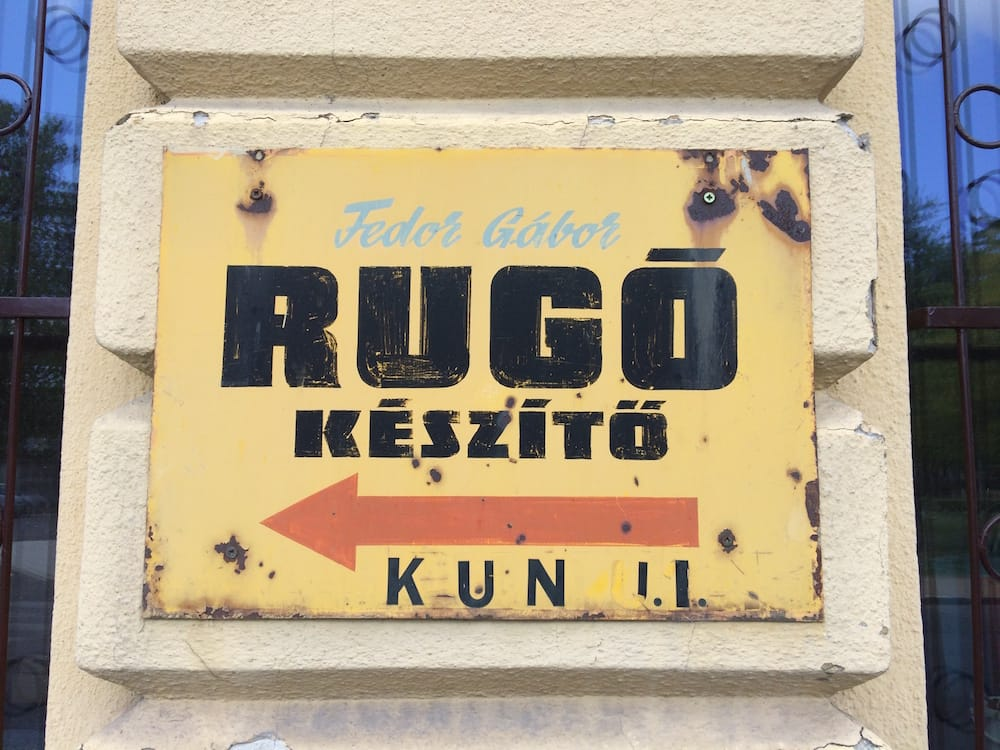 There are lots of old signs around Budapest, one of my favouite things!