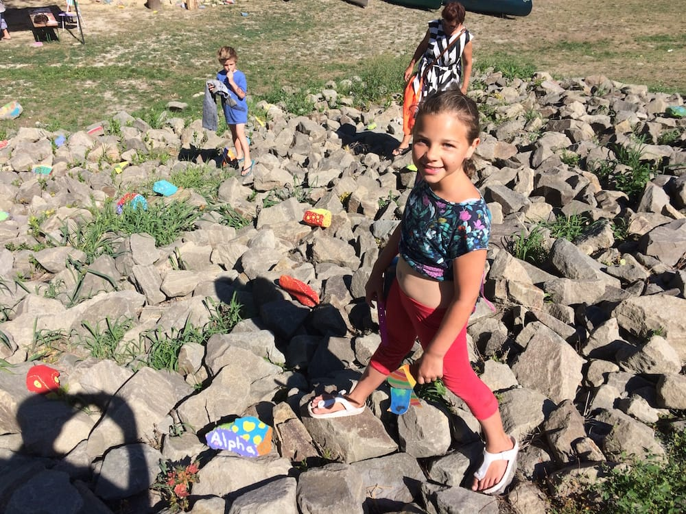 Ms.10 joined an arts activity at the Szentendre river recreation area