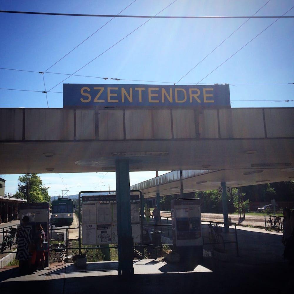The Szentendre train station