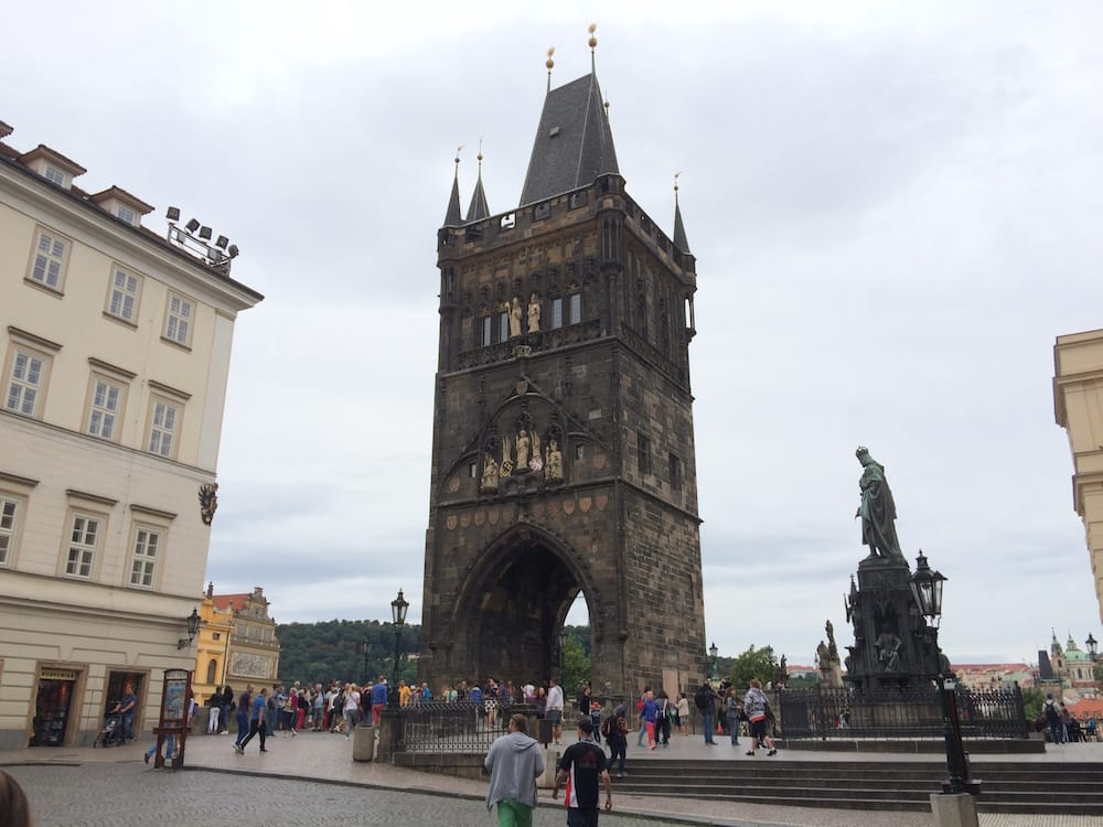The gate tower at the Charles Bridge