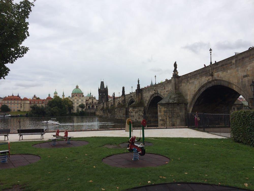 We found a playground under the Charles Bridge in Prague
