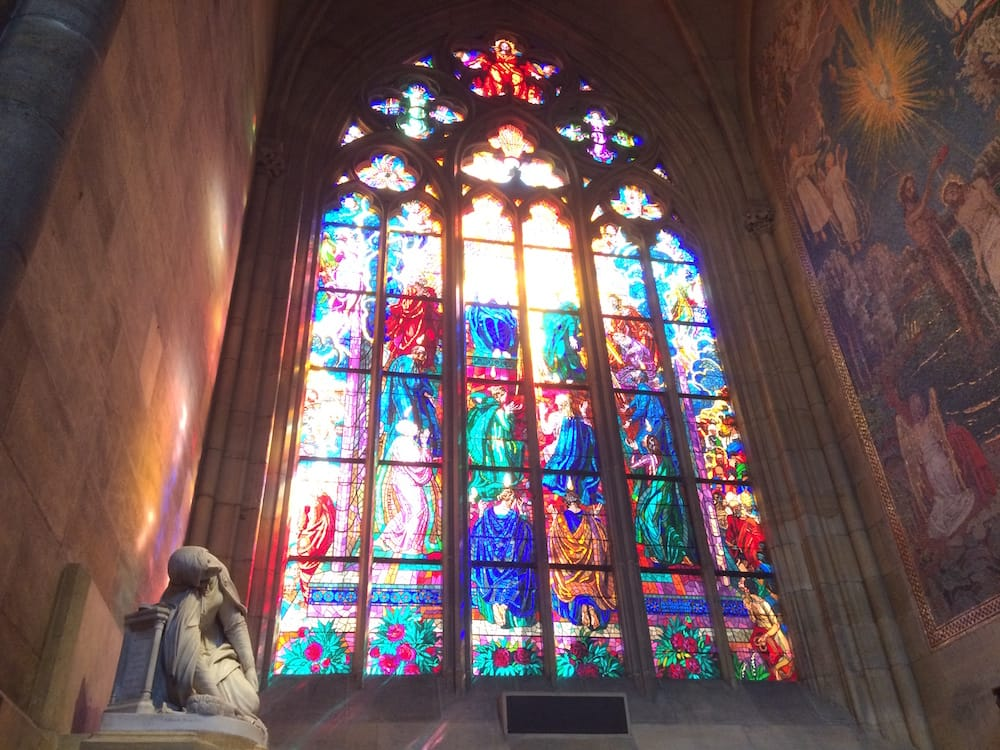 Inside St. Vitus Cathedral, Prague widthwise, an alcove