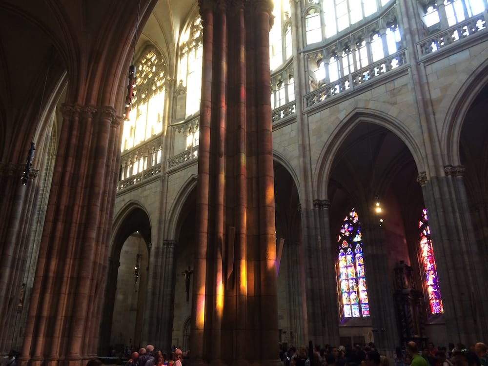 Inside St. Vitus Cathedral, Prague widthwise, more alcoves