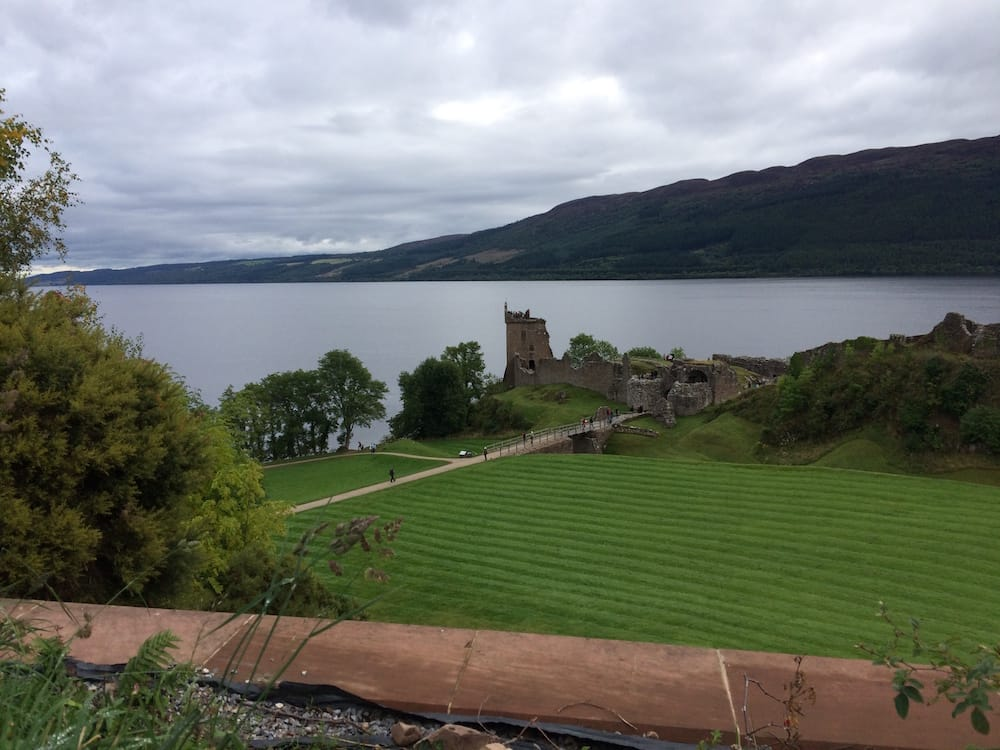 Urquardt Castle on Loch Ness, on the way to Neptune's Staircase