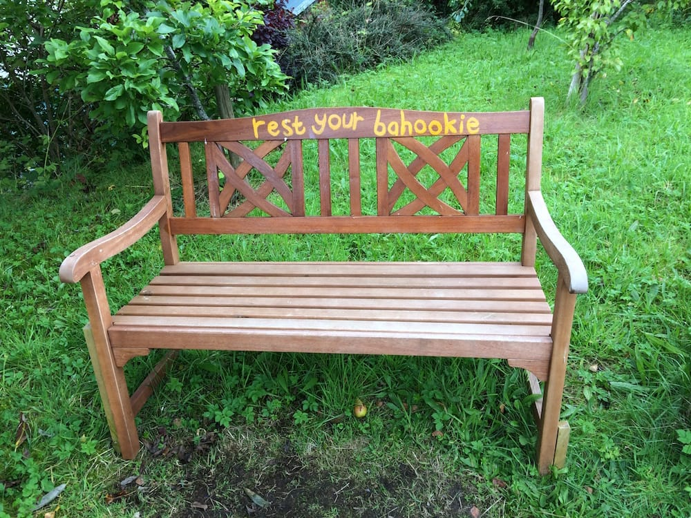 The street down to Dummnadrochit has this great bench to rest on
