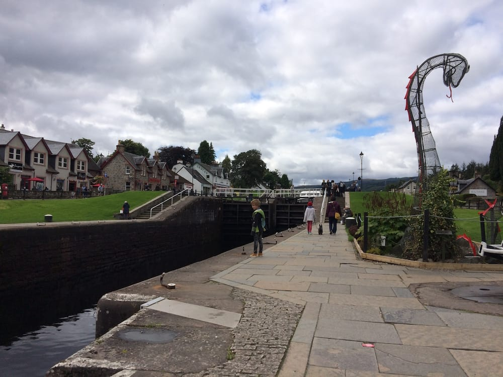 Neptune's Staircase lock system