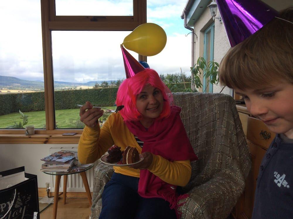 It's Alice's birthday again in Culbokie, Scotland!