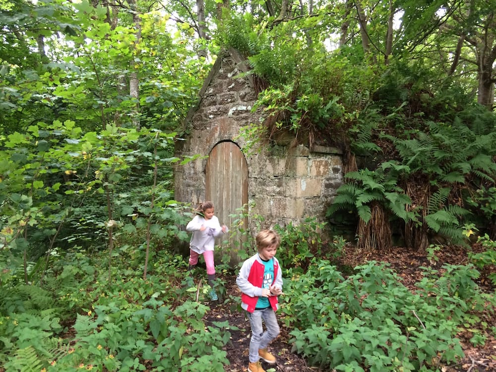 Lots of cool old buildings in the woods above Dunrobin Castle