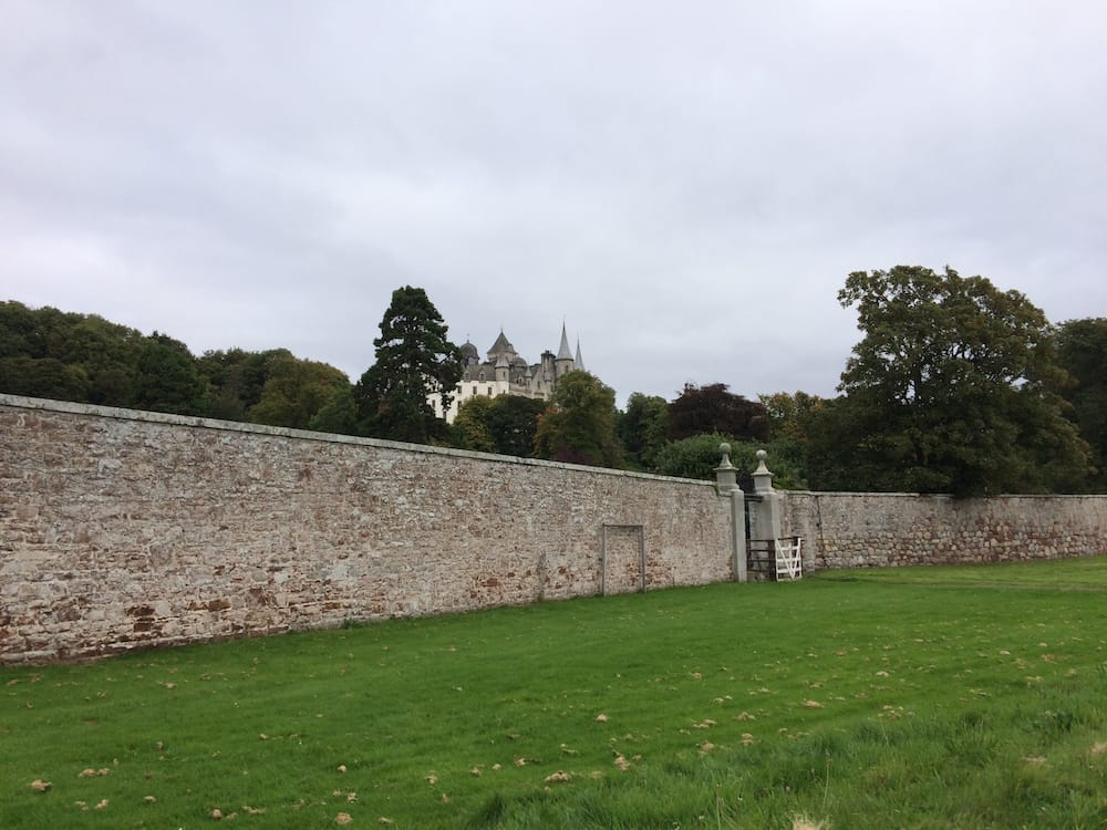 The wall at Dunrobin Castle, as viewed from the beach side