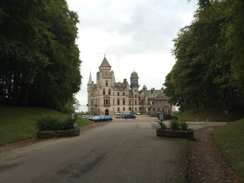 Arriving at Dunrobin Castle and you get a breathtaking view