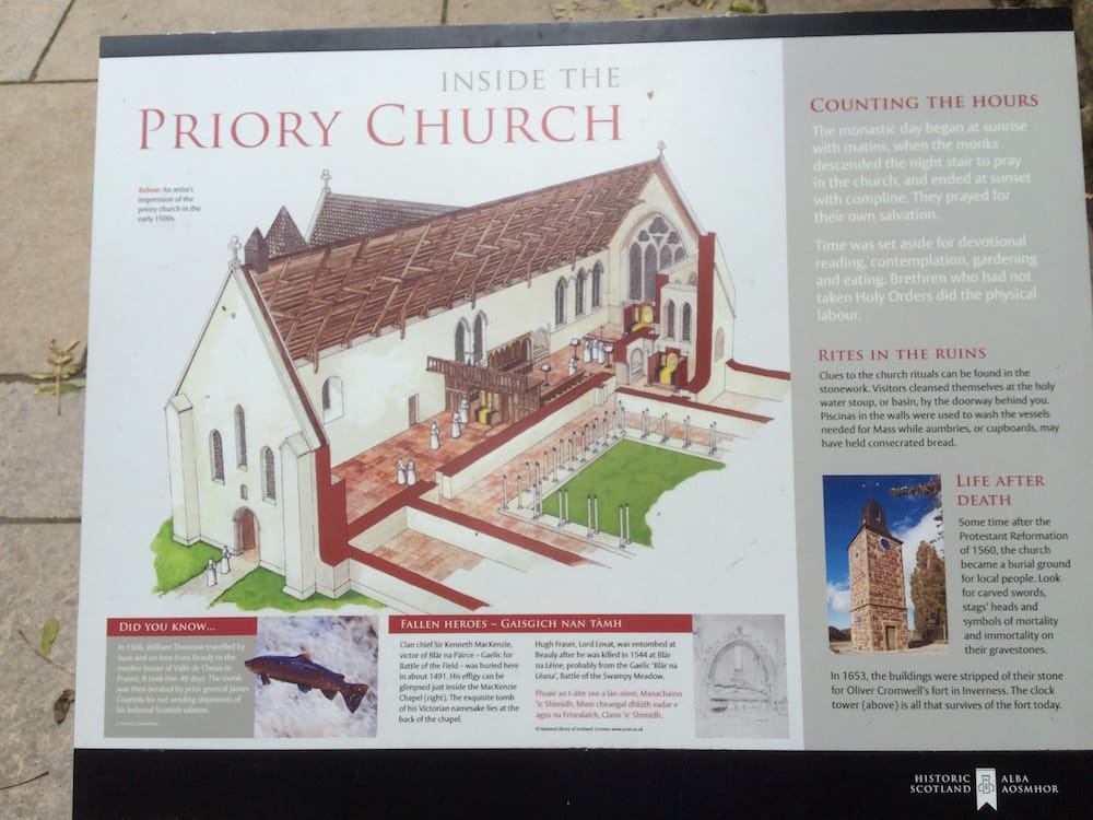The priory church at Beauly